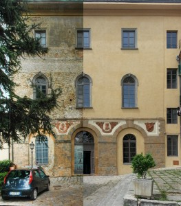 The Volterra International Residential College before and after the renovation